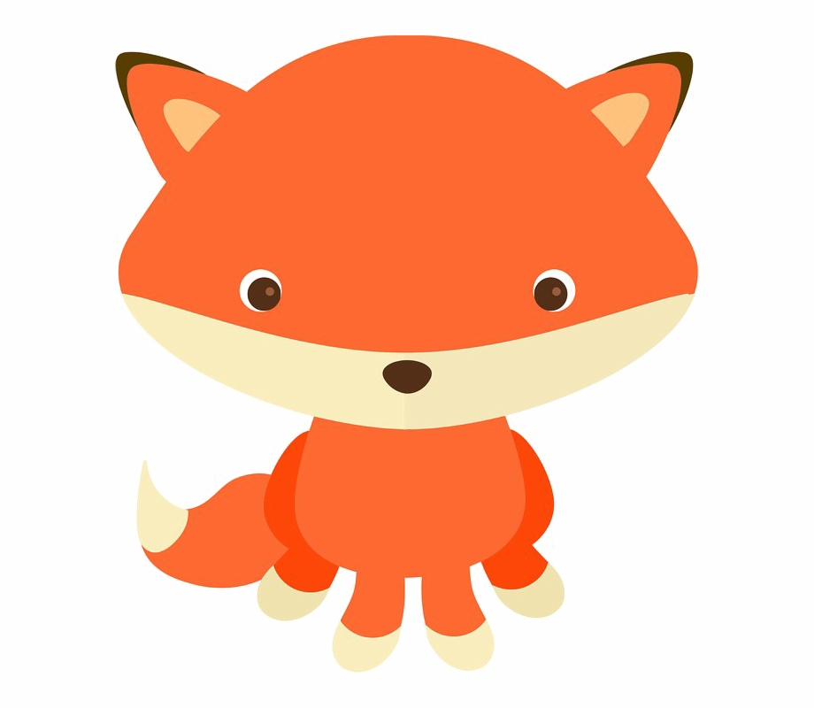 Baby Fox Png - Baby Fox Transparent Image - Woodland Animal Clipart Png Free PNG ...