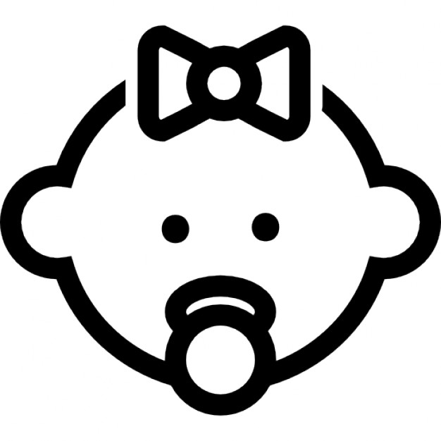 Baby Face Outline Png - Baby Icon Png #220540 - Free Icons Library