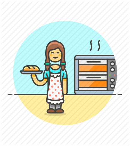 Woman Baking Bread Png - Bake, bakery, bread, chef, food, loaf, woman icon