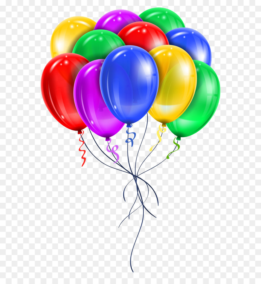 Balloons Png - Balloon Clip art - Transparent Multi Color Balloons PNG Picture Clipart