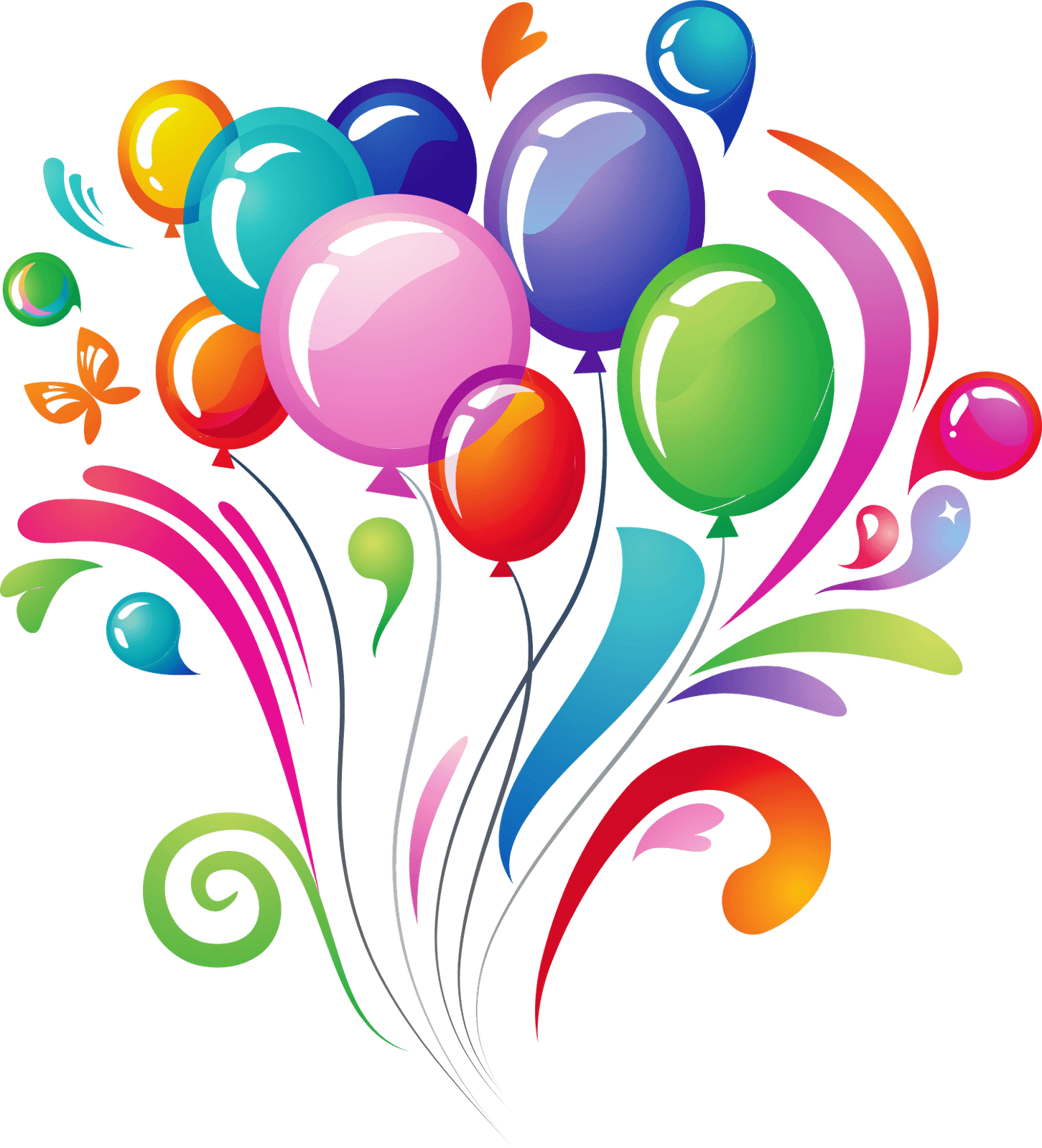 Happy Birthday Balloons Png - Balloons Explosion