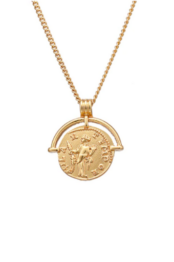 Golden Coin Necklace Png - Baltic Coin Pendant – The Styled Collection