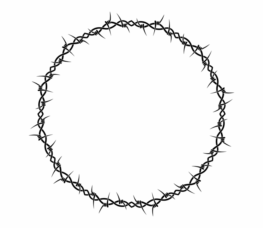 Barb Wire Png - Barb Barbed Border Fence Frame Injury Jail Pain - Barb Wire Circle ...