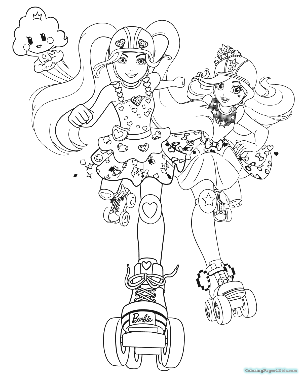 Video Game Coloring Pages Png - Barbie Video Game Hero Coloring Pages