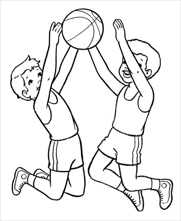 Basketball Player Coloring Pages