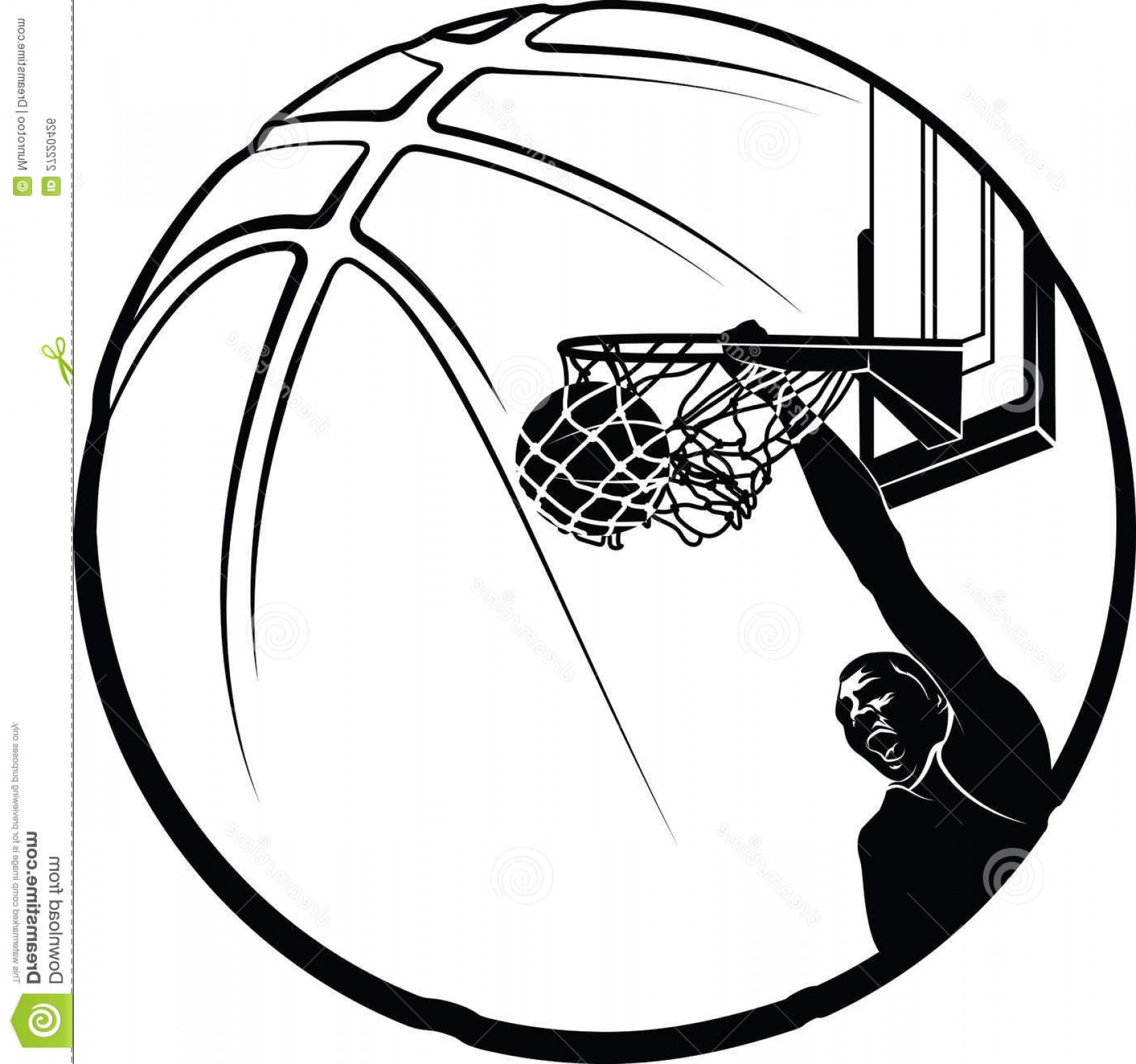 Half Basketball Clipart - Basketball Player Clipart Black And White | GeekChicPro