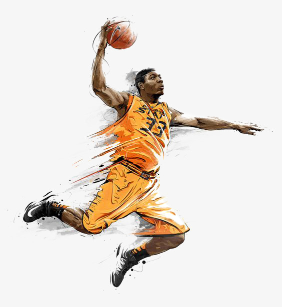 Basketball Player Dunking Png - Basketball Player Dunking Clipart Png