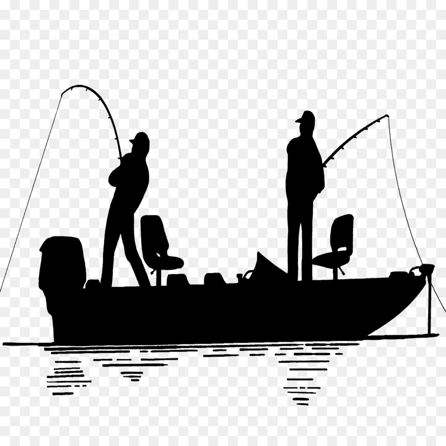 Bass Fishing Png Black And White - Bass fishing Wedding cake topper Fishing vessel Silhouette ...