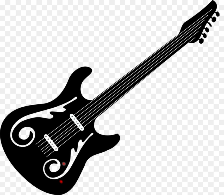 musical instrument png black and white guitar  u0026 free musical instrument black and white guitar