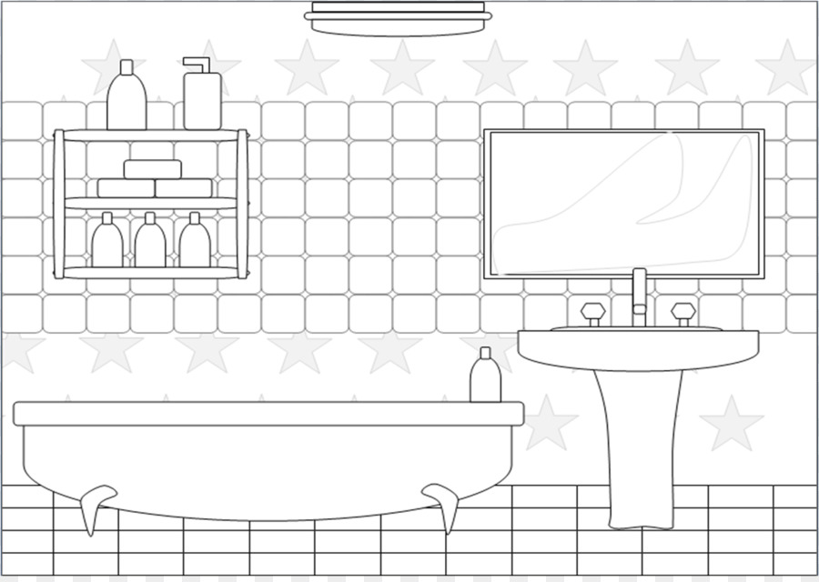 Bathroom Png Black And White Transparent Images 8297 Pngio