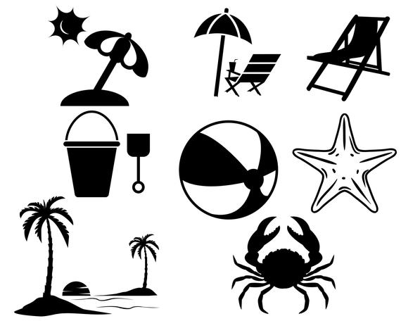 Beach Svg Bundle Vacation Vector Summer 1678047 Png Images Pngio