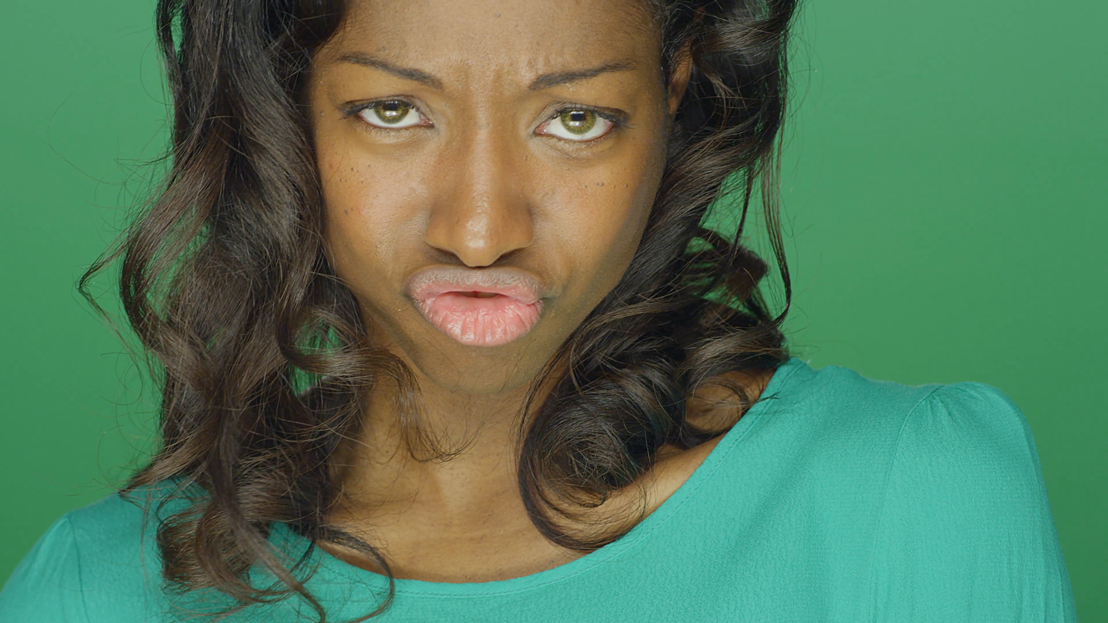 Silly Girl Face Png - Beautiful African American woman making silly faces and a fish ...