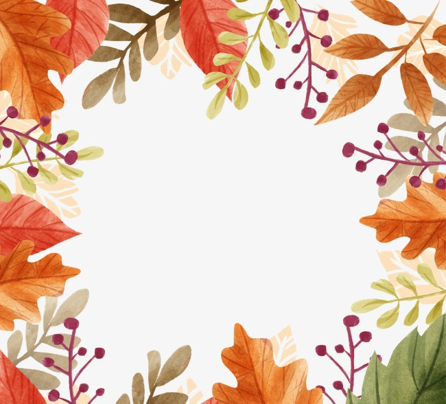 fall border png transparent images 3086 pngio