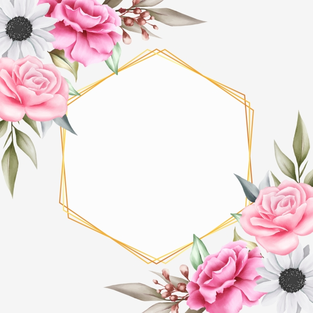 Beautiful Floral Background With Geometr 931534 Png