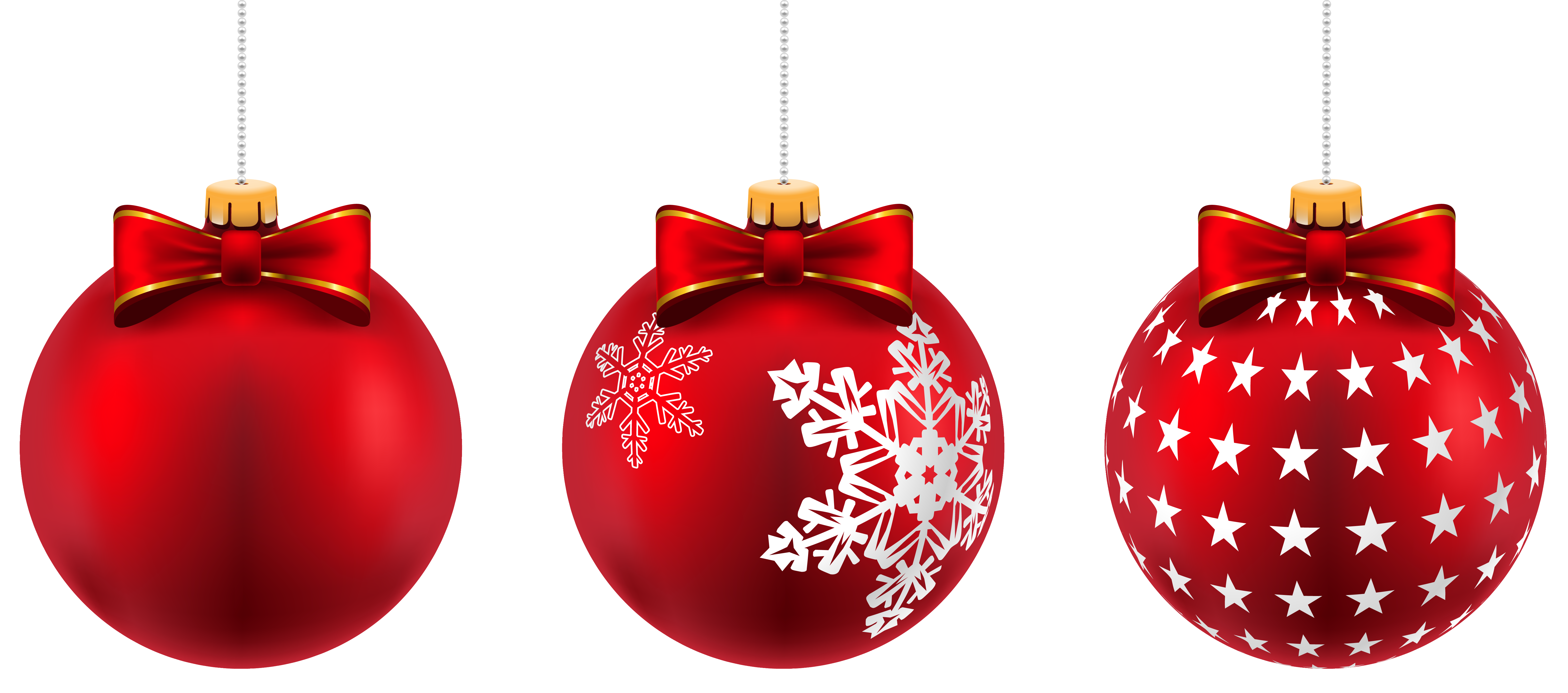 Christmas Red Ball Png - Beautiful Red Christmas Balls PNG Clip-Art Image   Gallery ...