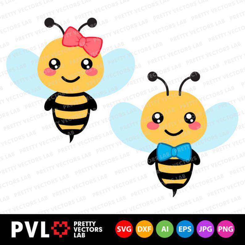 Girl Bee Png - Bee Svg Bee Girl Boy Svg Bumble Bee Svg Dxf Eps Cute Bees | PNGio
