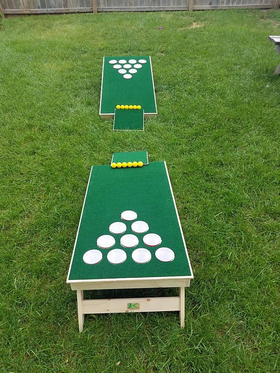 Golf And Beer Png - Beer pong golfhole! Included in the set are: 2 pong boards, 2 chipping  mats, and 12 plastic golf balls.