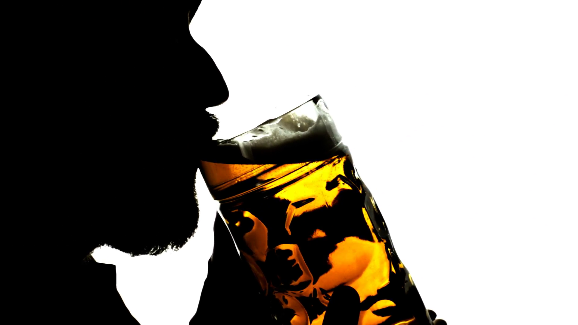 Drinking Beer Png - Beer silhouette big artificial. Close-up shot of a bearded old man ...