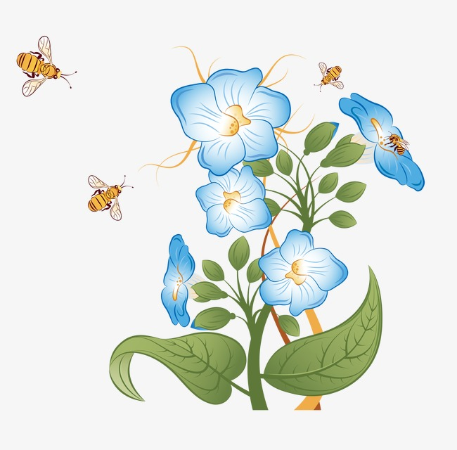 Flower And Bee Png - bees and flowers, Flowers, Flowers, Bee PNG and Vector
