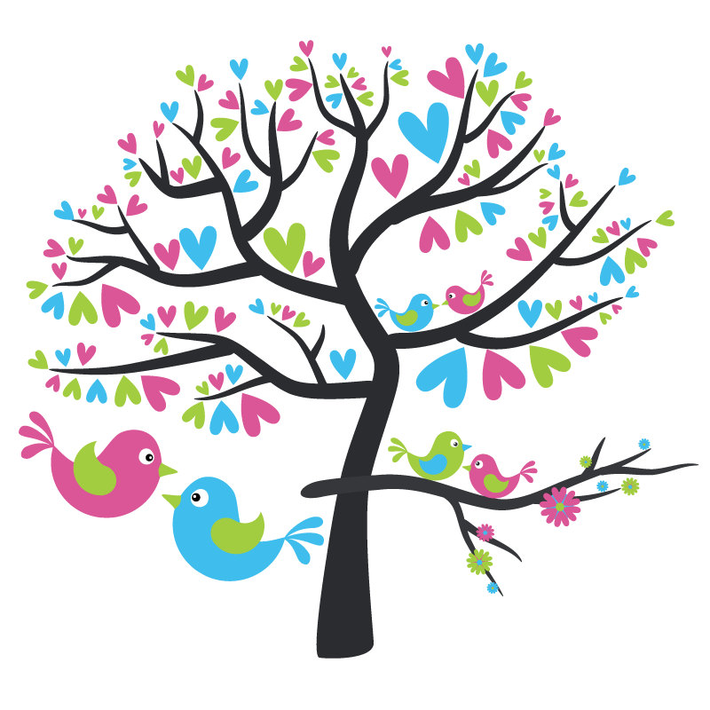 Love Birds In Tree Png - Best Love Birds Clipart #17837 - Clipartion.com