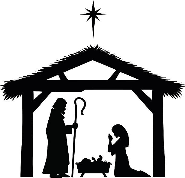 Nativity Scene Silhouette - Best Nativity Silhouette Illustrations, Royalty-Free Vector ...