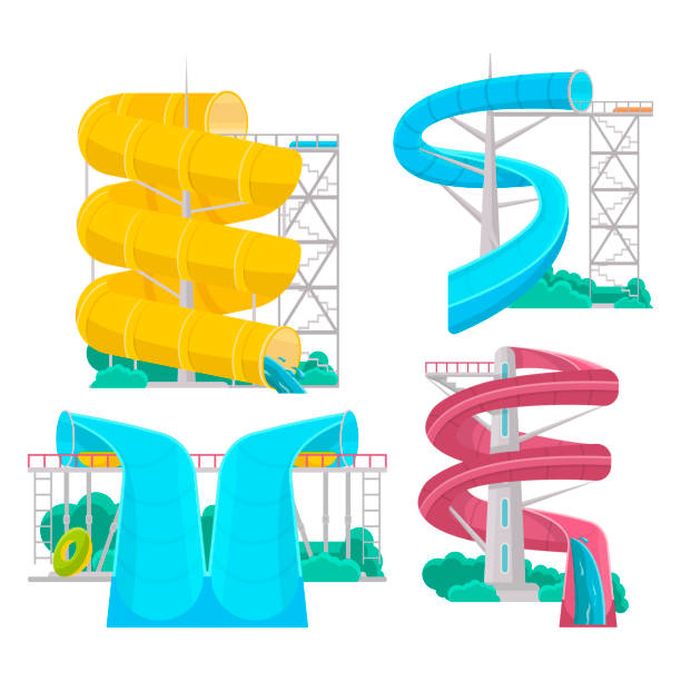 Twisty Slide Clip Art | Royalty-Free (RF) Water Slide Clipart &  Illustrations #1 | Water slides, Clip art, Illustration