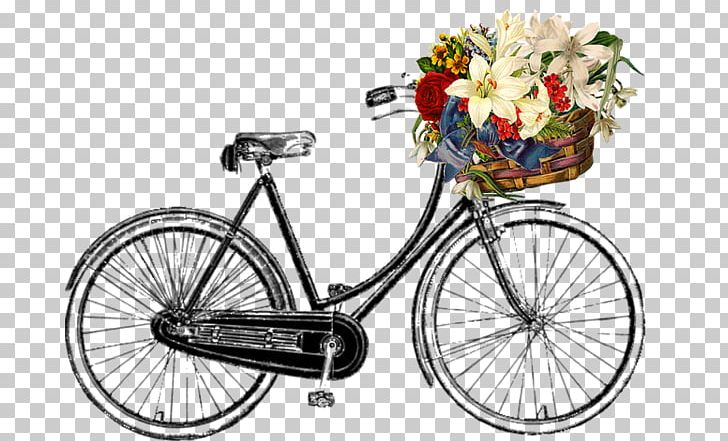 Vintage Bicycle Png - Bicycle Baskets Vintage Clothing Retro Style Cycling PNG, Clipart ...