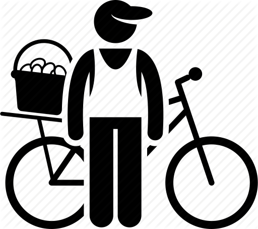 Png Delivery Man On Bike - Bicycle, bike, delivery, food, man, seller, selling icon