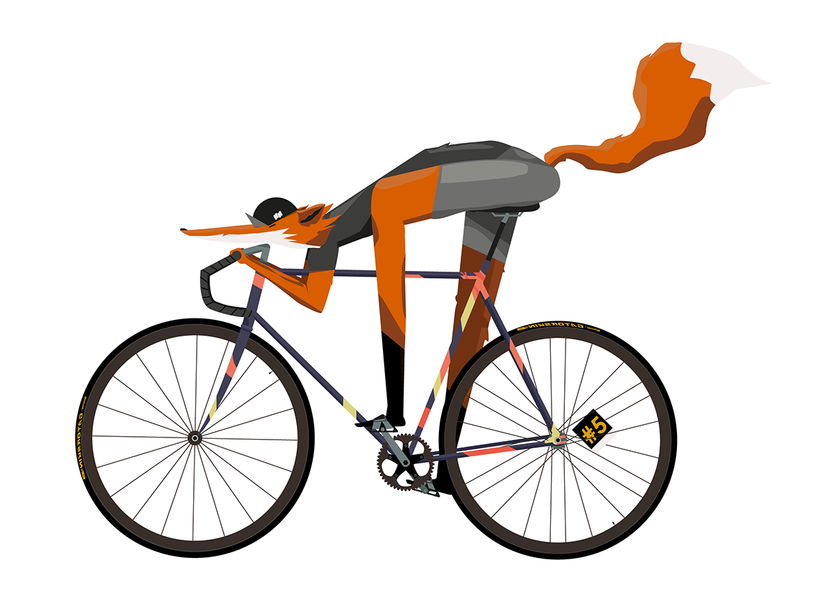 Bicycle Fox On Behance #220155 - PNG Images - PNGio