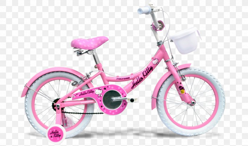 Pink Bicycle Png - Bicycle Polygon Bikes Hello Kitty Mountain Bike BMX Bike, PNG ...