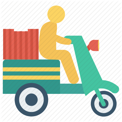 Png Delivery Man On Bike - Bike, delivery, fast, man, package icon