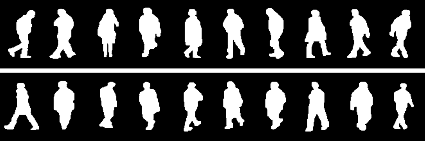 Moving People Png - Binary templates of moving people   Download Scientific Diagram