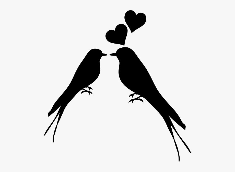 Birds Kissing Clip Art Two Love Birds 1161971 Png Images Pngio