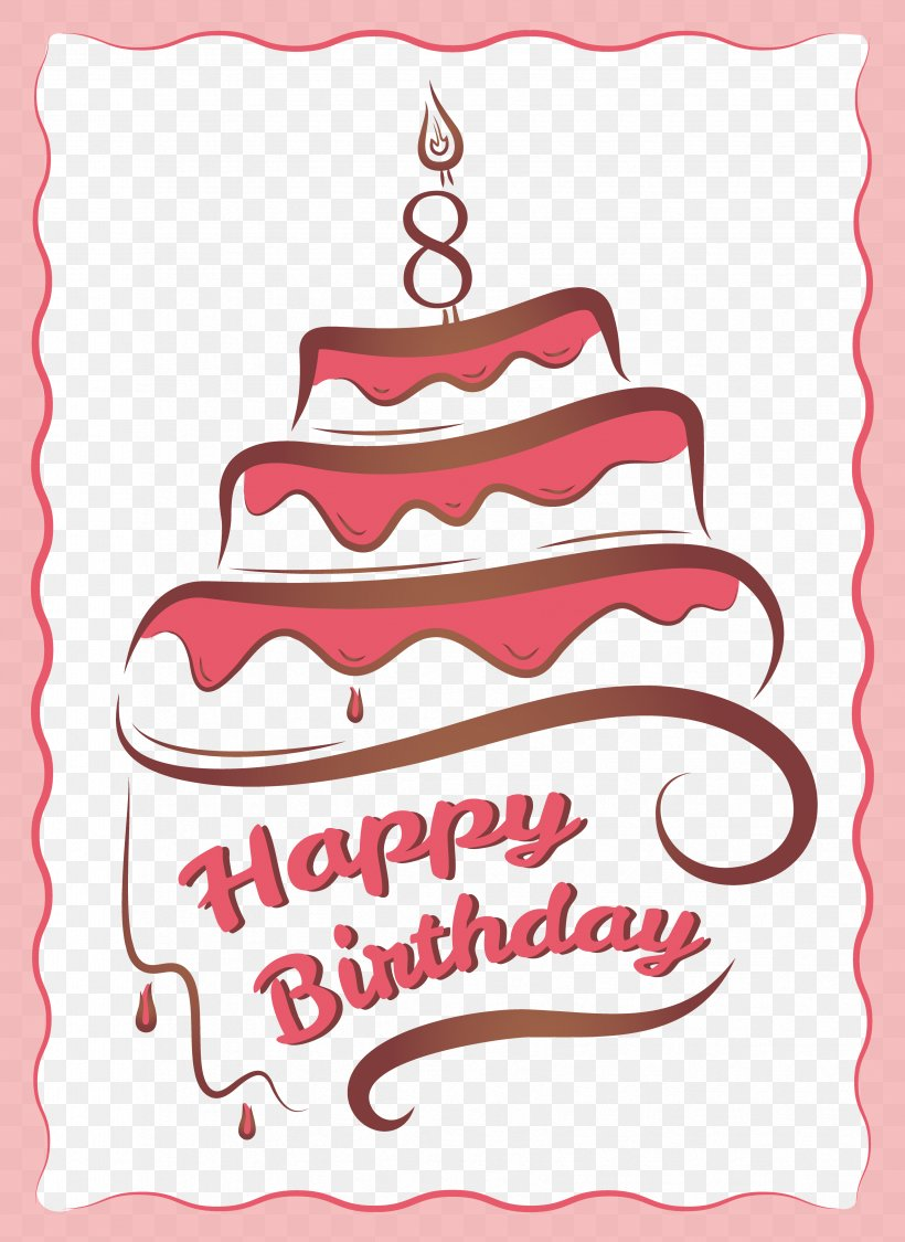 Messed Up Cake Vector Png - Birthday Cake Greeting Card Birthday Card, PNG, 3358x4608px ...