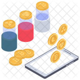 Bitcoin Network Icon Of Isometric Style Png Images Pngio