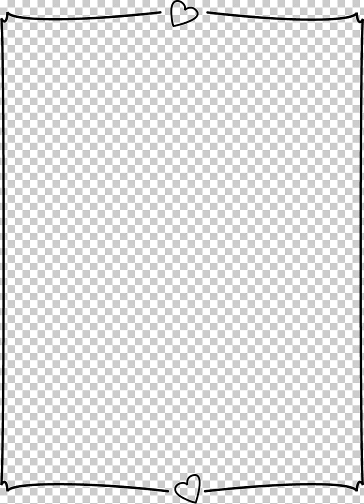 Heart Page Border Png - Black and white Angle Point Pattern, Heart Page Border PNG clipart ...