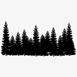 Forest Tree Tops Png - Black And White Forest Clipart , Png Download - Pine Tree Forest ...