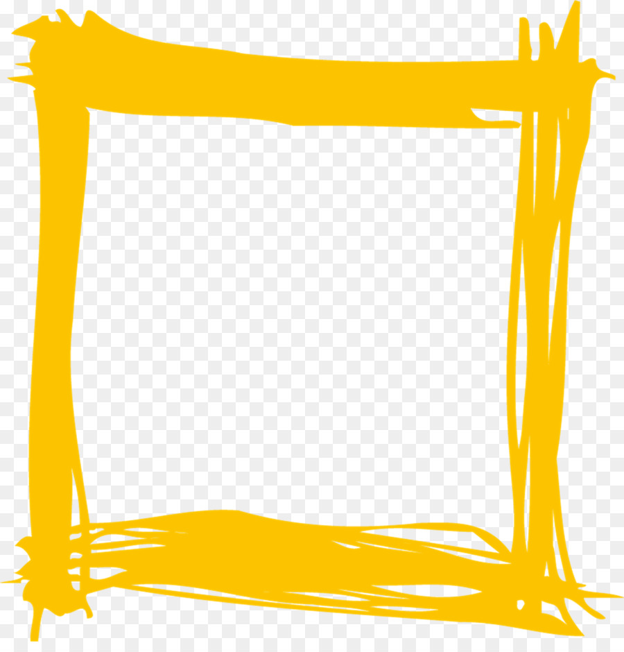 Yellow Frame Png - Black And White Frame png download - 1868*1920 - Free Transparent ...