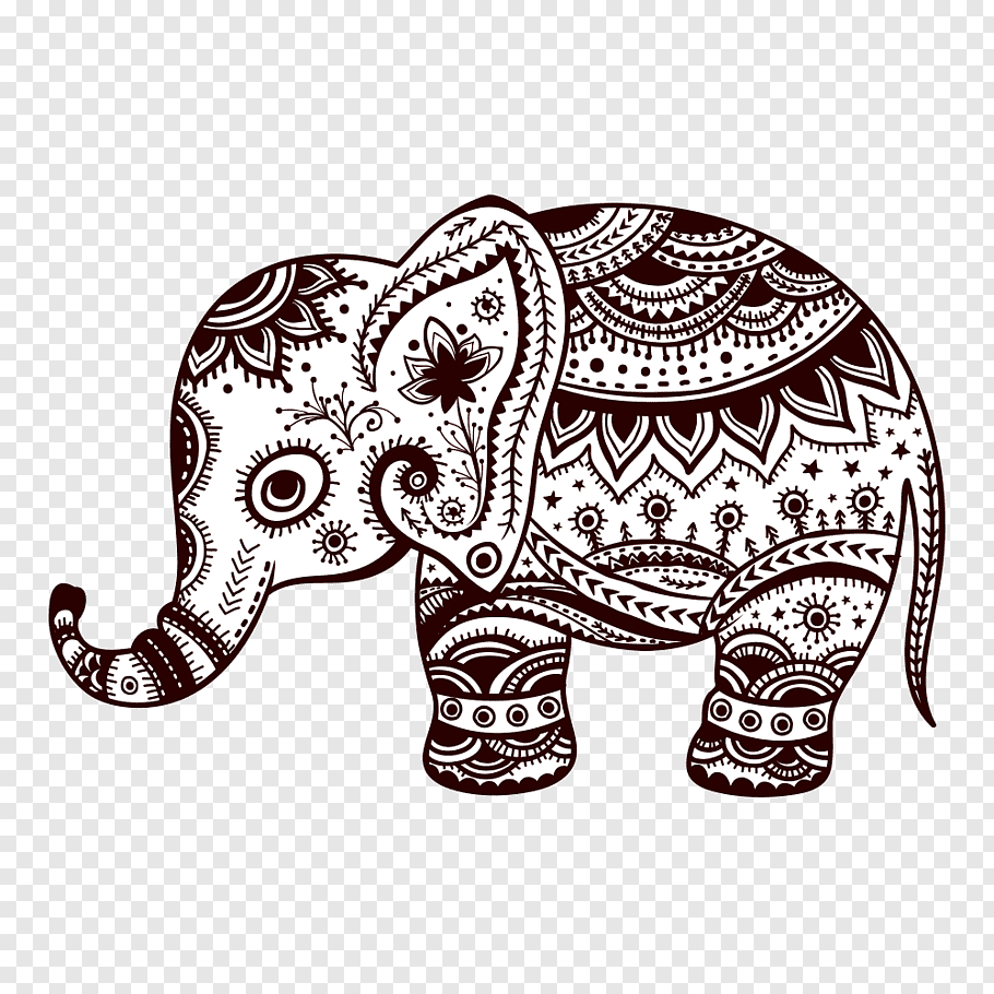 Black And White Mandala Elephant Illustr 2032852 Png Images Pngio We hope you enjoy our growing collection of hd images to use as a background or home screen. black and white mandala elephant