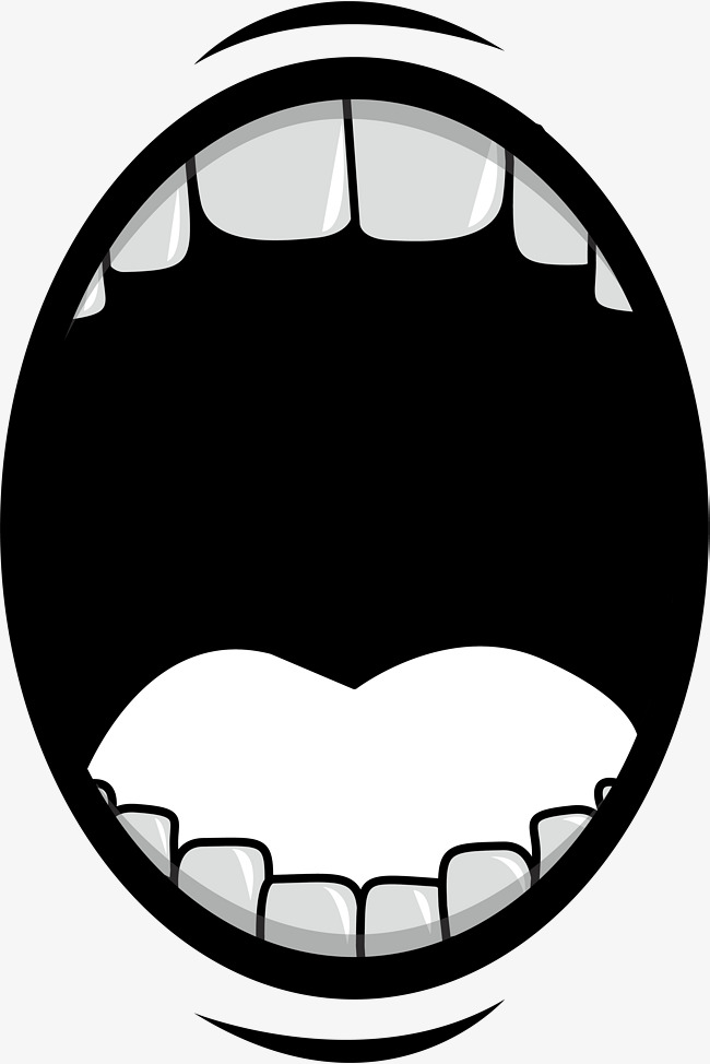 Black And White Smiley Lip Mouth - Black And White Clip Art Mouth - Png  Download (#198494) - PinClipart