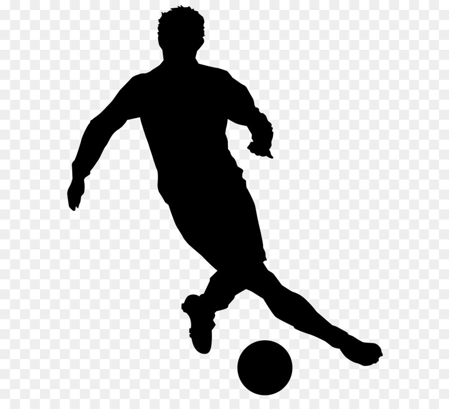 Playing Soccer Png Black And White & Free Playing Soccer ...