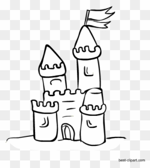 Black And White Sand Castle Clip Art S 134124 Png