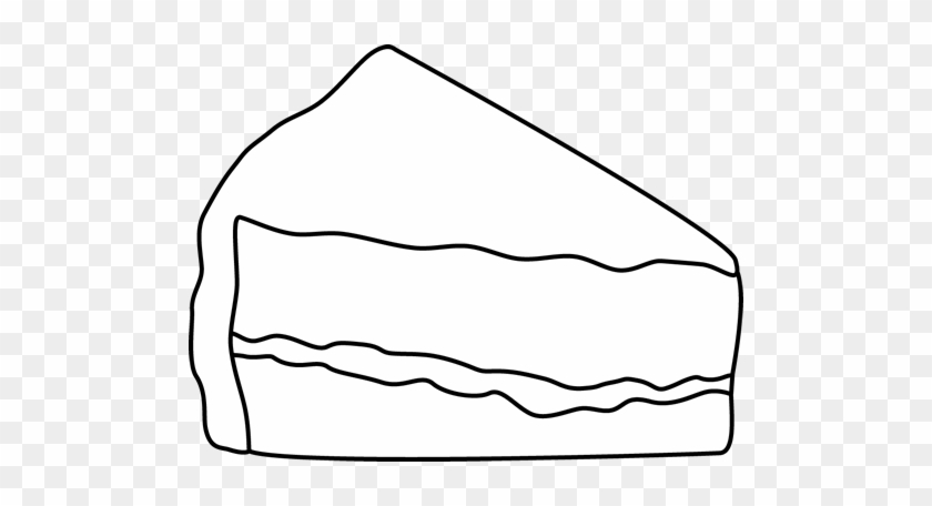 Slice Of Cake Png Black And White - Black And White Slice Of Cake - Outline Of A Piece Of Cake - Free ...