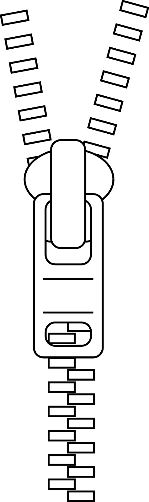 Zipper Black And White Png - Black And White Zipper Clipart - Clip Art Library