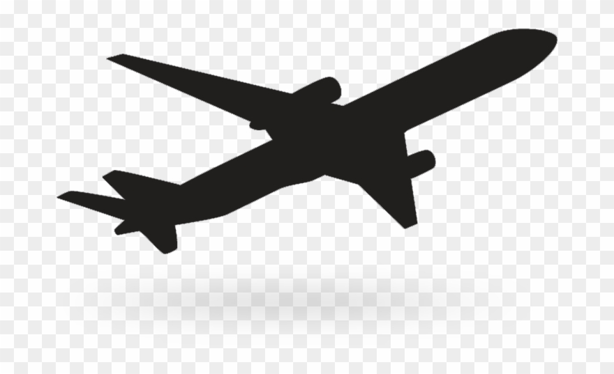 Black Background Airplane Icon Vector Fr 434176 Png Images Pngio
