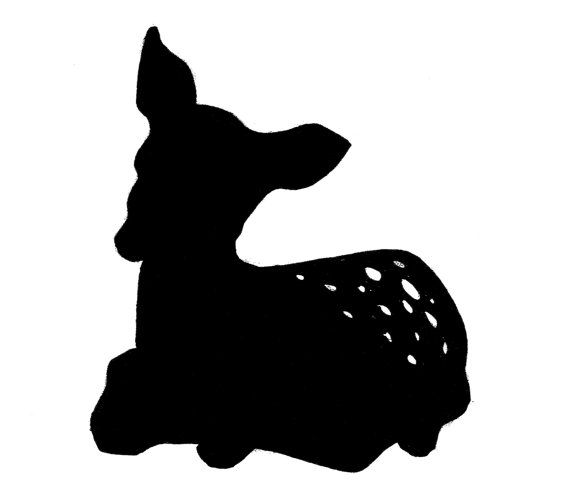 Fawn Silhouette Png - Black Fawn Silhouette | Rabbit silhouette, Animal silhouette, Deer art