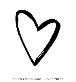Black Hand Drawn Heart 52492 Png Images Pngio
