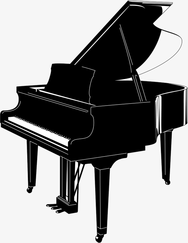 Piano black. Png and white free