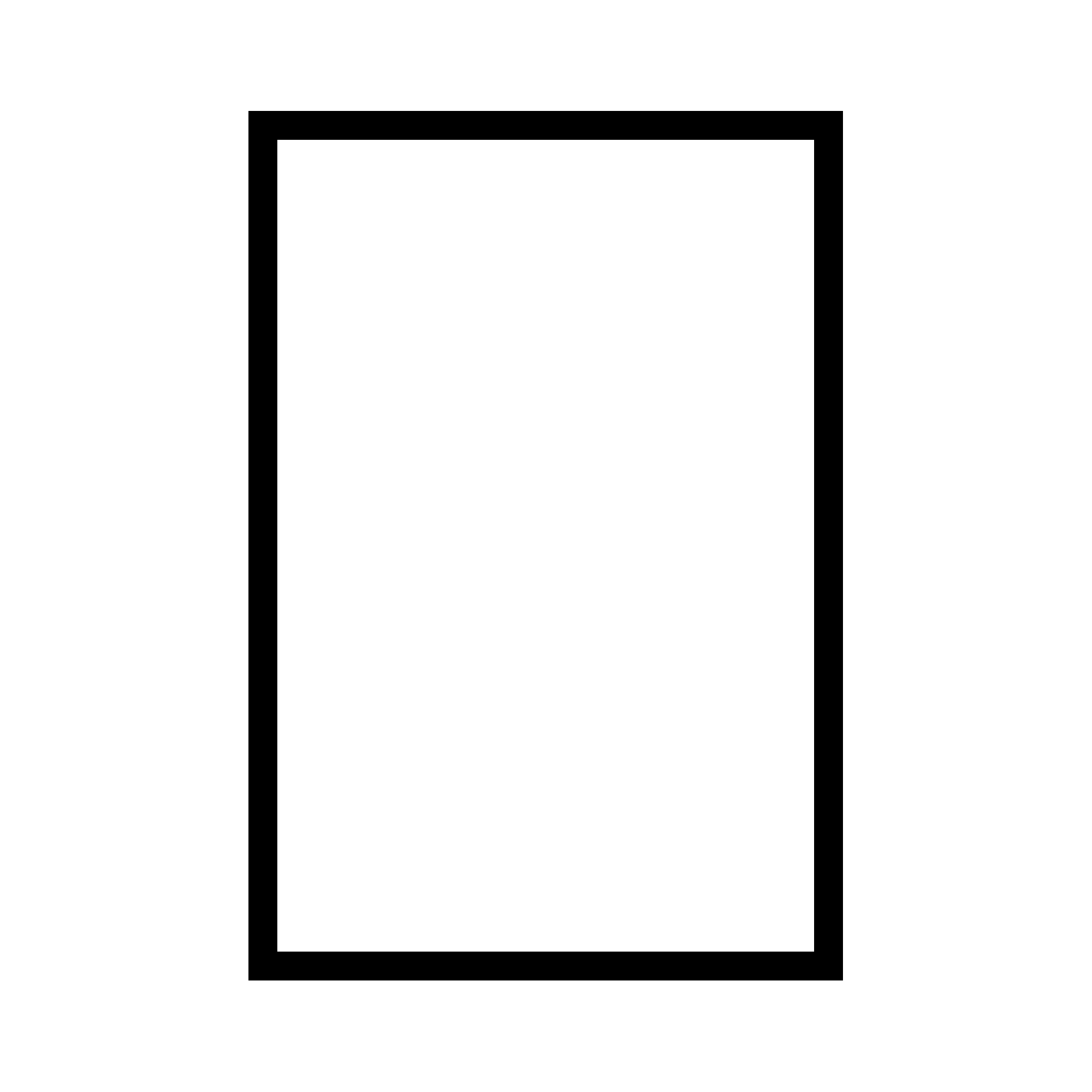 Rectangle Png Black And White - black