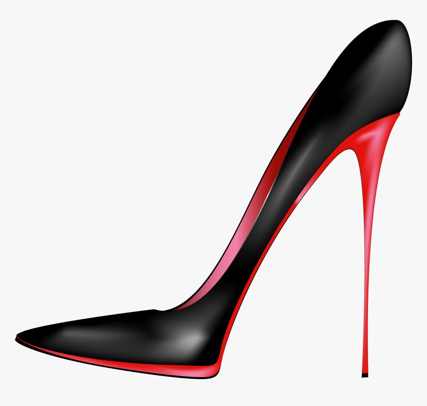 Black Ribbon Heels Png - Black Red High Heels Png Clip Art - High Heel Clipart Png ...